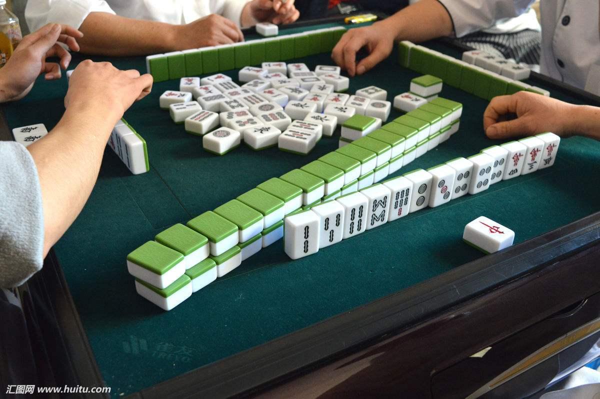 外国人打麻将